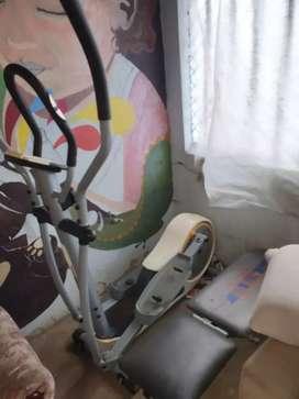 Bisicleta  Eliptica y máquina abdominales
