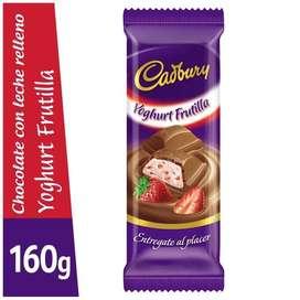 Chocolates Cadbury de frutilla 160gr.