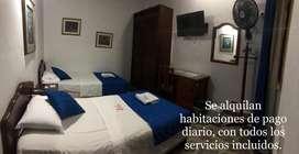 Habitaciones en un muy buen estado com tofos los servicios incluidos