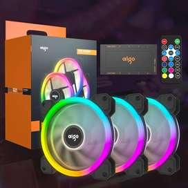 Ventilador Aigo Fans Rgb Game Darkflash Dr12 Pro 3 En 1 Hub
