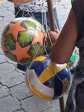 Balones de futbol y de basket