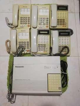 Planta telefónica panasonic kx ta-616 con 6 teléfonos panasonic