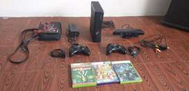 Xbox 360 chip 3.0 - 2 controles + Kinect