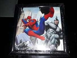 Cuadro Spider-man 23x23 Nuevo