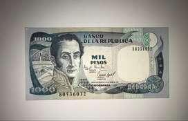 BILLETE 1000 PESOS ORO 02/OCT/1995 COLOMBIA