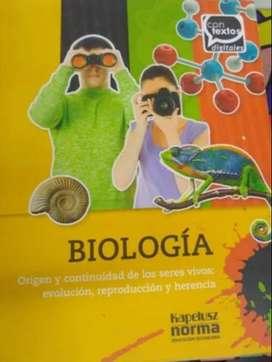 Libro de Biología - Origen y continuidad de los seres vivos evolución, reproducción y herencia. Ed. Kapelusz N. - usado.