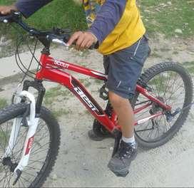 Bicicleta Montañera Marca SCOUT 24