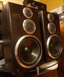 Parlantes Onkyo PSC50 120 watts 10 pulg no pioneer technics kenwood