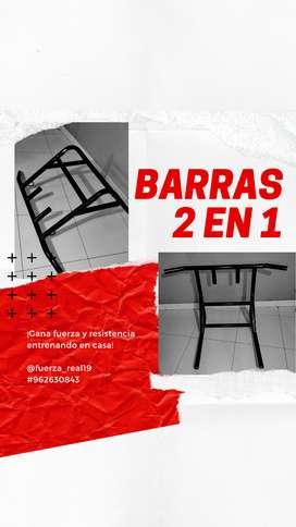 BARRAS 2 EN 1 PESADAS