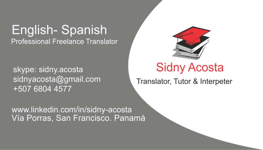 Sidny Acosta Traductora, Tutora E Intérprete/ Translator, Tutor Interpreter 0