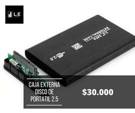 CAJA EXTERNA PARA DISCO DE PORTATIL 2.5