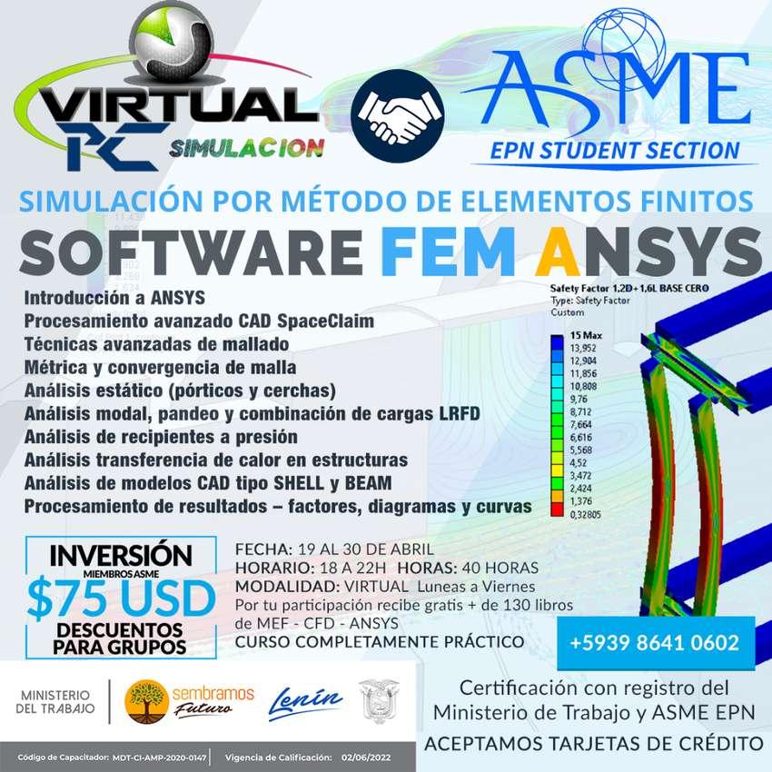 Curso virtual Simulacion Estructural Ansys 0