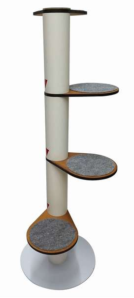 Gimnasio Torre gato vertical 4 peldaños liso