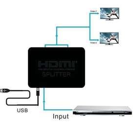 Splitter Divisor Hdmi 4k 2 Tv Zona Alto Rosario Blaster Pc