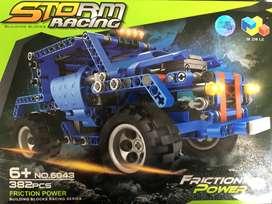 Fichas Tipo Lego Carro Armable 382 Piezas Construcción