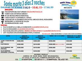 TOUR SANTA MARTA SALIDAS DICIEMBRE