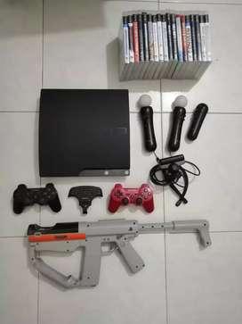 PlayStation 3 con todos los accesorios