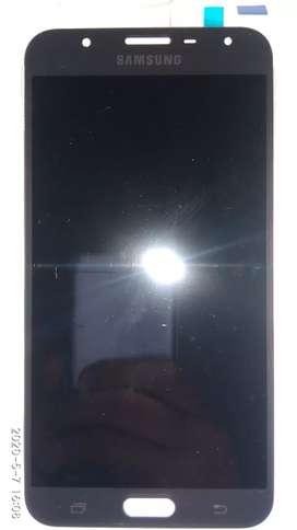 Repuesto: Módulo para celular Samsung J7 NEO (J701) en negro.