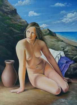 Desnudo al óleo