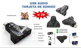 USB AUDIO - ADAPTADOR TIPO AVIÓN