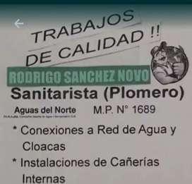 Plomero (Conexion de agua y cloaca)