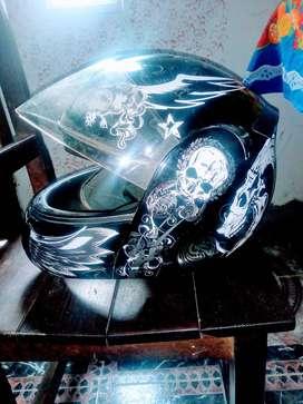 Casco para moto.