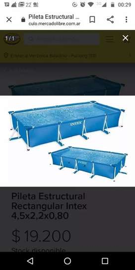 Pileta de lona Intex rectangular