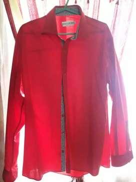 Camisa Jean Cartier 41/42 color rojo