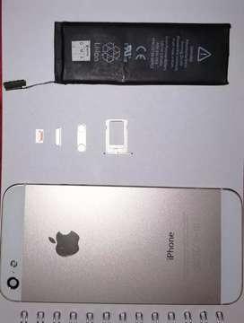 Carcasa nueva para Iphone 5 y batería en perfecto estado