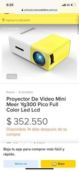 Mini proyector como nuevo