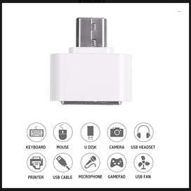 Adaptador / Convertidor usb 2.0 Otg V8 Hembra a Micro USB Macho