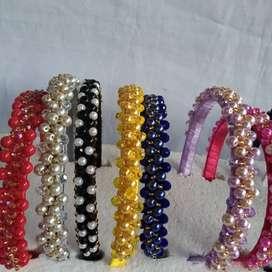 Binchas elaboradas en perla