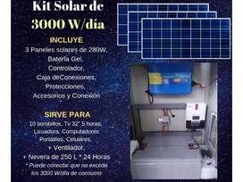 Kit solar de 3ooo wats