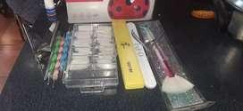 Cabina y accesorios para manicuria
