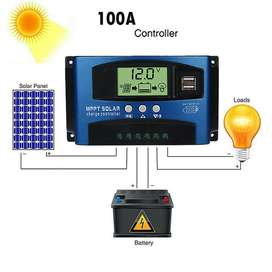 Controlador Carga Solar 100A MPPT 12V / 24V Regulador Carga Bateria