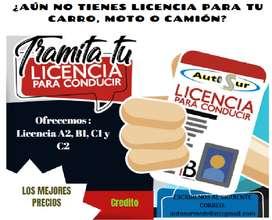 Curso y licencia de conducción.