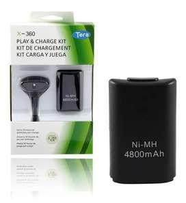 Kit carga y juega 4800 mAh Xbox 360