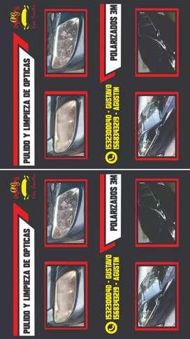 Pulidos de ópticas por dentro y por fuera polarizados reparación de espejos eléctricos y manuales