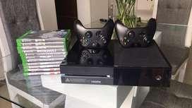 Xbox one con dos controles y 11 juegos