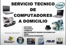 Mantenimiento y reparación de computadores e instalación de sistemas operativos