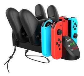 Cargador Base Nintendo Switch Ipega 6 En 1