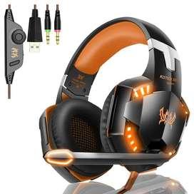 Diadema Gamer Profesional Kotion Each G2000 Micrófono Y Led promo¡!¡!