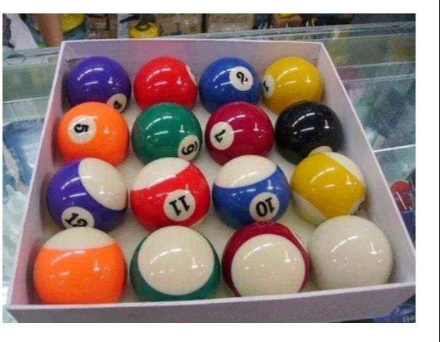 Bolas Pool Billar Deporte Ciencia Ball Hard Resina Env Inmed 0