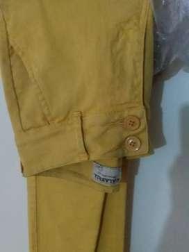 Pantalon,mostaza