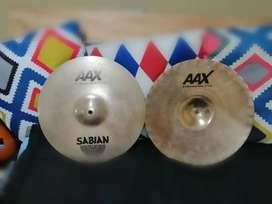 Platillos de batería marca Sabían AAX