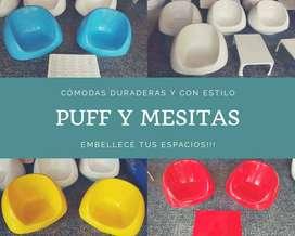 Puff Plasticos en fibra de vidrio