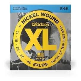 Encordado Guitarra Eléctrica Daddario Exl125 9-46