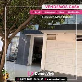 Vendo Casa Conjunto Maria Isabella