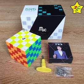 Mgc 5 Magnetico Cubo Rubik 5x5 Moyu Yj Velocidad Stickerless