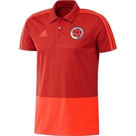 Camiseta  Polo Presentación Selección Colombia Roja Original